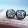1.52ctw Antique Cushion Cut Collet Earrings 18