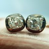 1.52ctw Antique Cushion Cut Collet Earrings 13