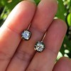 1.52ctw Antique Cushion Cut Collet Earrings 0