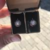 1.65ctw Old European Cut Diamond Dormeuse Earrings 14