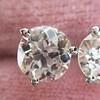 1.72ctw Old European Cut Diamond Stud Earrings 27