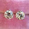 1.72ctw Old European Cut Diamond Stud Earrings 3