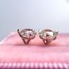 1.72ctw Old European Cut Diamond Stud Earrings 12