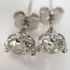 1.72ctw Old European Cut Diamond Stud Earrings 2
