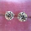 1.72ctw Old European Cut Diamond Stud Earrings 29