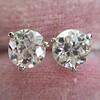 1.72ctw Old European Cut Diamond Stud Earrings 4