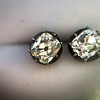 1.73ctw Georgian Peruzzi Cut Diamond Collet Stud Earrings 17