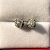 1.73ctw Georgian Peruzzi Cut Diamond Collet Stud Earrings 9