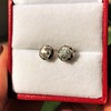 1.73ctw Georgian Peruzzi Cut Diamond Collet Stud Earrings 6
