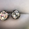 1.73ctw Georgian Peruzzi Cut Diamond Collet Stud Earrings 18