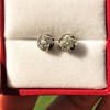 1.73ctw Georgian Peruzzi Cut Diamond Collet Stud Earrings 8