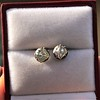 1.73ctw Georgian Peruzzi Cut Diamond Collet Stud Earrings 4