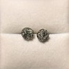 1.73ctw Georgian Peruzzi Cut Diamond Collet Stud Earrings 15
