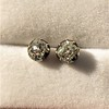 1.73ctw Georgian Peruzzi Cut Diamond Collet Stud Earrings 7