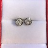 1.73ctw Georgian Peruzzi Cut Diamond Collet Stud Earrings 19