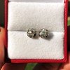 1.73ctw Georgian Peruzzi Cut Diamond Collet Stud Earrings 2