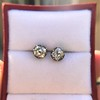 1.73ctw Georgian Peruzzi Cut Diamond Collet Stud Earrings 5