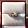 1.73ctw Georgian Peruzzi Cut Diamond Collet Stud Earrings 11