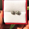 1.73ctw Georgian Peruzzi Cut Diamond Collet Stud Earrings 1