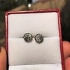 1.73ctw Georgian Peruzzi Cut Diamond Collet Stud Earrings 14