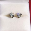 1.85ctw Old European Cut Diamond Stud Earrings 17