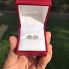 1.85ctw Old European Cut Diamond Stud Earrings 14