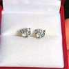 1.85ctw Old European Cut Diamond Stud Earrings 7