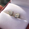 1.85ctw Old European Cut Diamond Stud Earrings 2