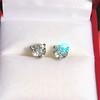 1.85ctw Old European Cut Diamond Stud Earrings 1