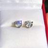 1.85ctw Old European Cut Diamond Stud Earrings 4