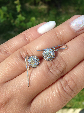 1.90ctw (Est.) Old European Cut Diamond Earrings, N/O, VS