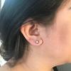 0.97ctw Georgian Collet Stud Peruzzi Cut Diamond Earrings 1