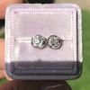 0.97ctw Georgian Collet Stud Peruzzi Cut Diamond Earrings 5