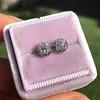0.97ctw Georgian Collet Stud Peruzzi Cut Diamond Earrings 6