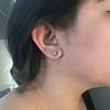 0.97ctw Georgian Collet Stud Peruzzi Cut Diamond Earrings 4
