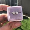 0.97ctw Georgian Collet Stud Peruzzi Cut Diamond Earrings 10