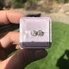 0.97ctw Georgian Collet Stud Peruzzi Cut Diamond Earrings 13