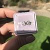 0.97ctw Georgian Collet Stud Peruzzi Cut Diamond Earrings 14