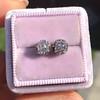 0.97ctw Georgian Collet Stud Peruzzi Cut Diamond Earrings 0