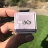 0.97ctw Georgian Collet Stud Peruzzi Cut Diamond Earrings 12
