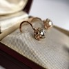2.00ctw Antique Cushion Cut Diamond Ear Pendants 10