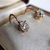 2.00ctw Antique Cushion Cut Diamond Ear Pendants 1