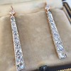 2.00ctw Art Deco Conversion Dangle Earrings 0