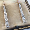 2.00ctw Art Deco Conversion Dangle Earrings 3