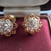 2.25ctw Old Mine Cut Victorian Cluster Earrings 21