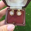 2.25ctw Old Mine Cut Victorian Cluster Earrings 4