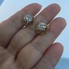 2.25ctw Old Mine Cut Victorian Cluster Earrings 15