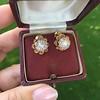 2.25ctw Old Mine Cut Victorian Cluster Earrings 9