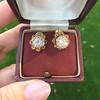 2.25ctw Old Mine Cut Victorian Cluster Earrings 2