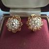 2.25ctw Old Mine Cut Victorian Cluster Earrings 20